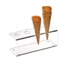 Eiswaffel-Ständer 24,5 x 9,5 cm, H: 9 cm