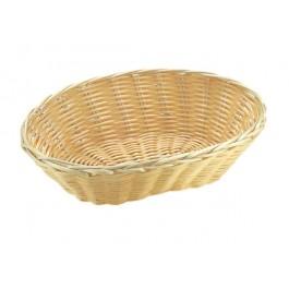 Brot- und Obstkorb, oval 18 x 12 cm, H: 7 cm