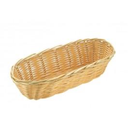 Brot- und Obstkorb, oval 21 x 10 cm, H: 6 cm