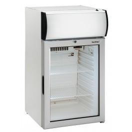 Umluft-Gewerbekühlschrank, mit Glastür und Werbe-Display