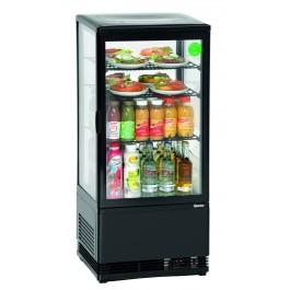 Mini-Kühlvitrine 78L, schwarz von Bartscher