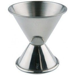 Cocktail-Doppelmaß Ø 6 / 5 cm, H: 6 cm