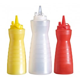 Quetschflasche, weiß Ø 7 cm, H: 21 cm