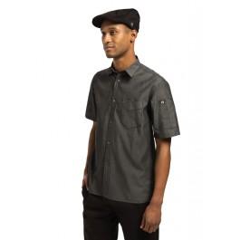Chef Works Unisex Denim Hemd Detroit kurzarm schwarz L