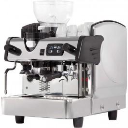 Eingruppige Siebträgermaschine mit Kaffeemühle, 460 x 590 x 630 mm (BxTxH) von Stalgast