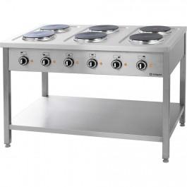 Elektroherd Serie 700- 6 Platten à 2,6 kW, 1200 x 700 x 850 von Stalgast