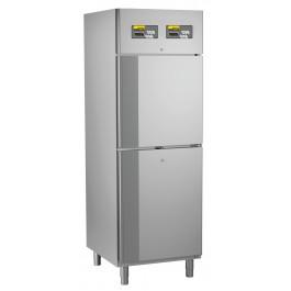 Kühl- / Tiefkühlkombination, steckerfertig, für GN 2/1, mit getrennt regelbarem Kühl- und Tiefkühlabteil
