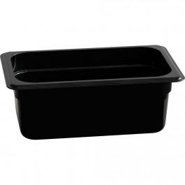 Gastronormbehälter, Polycarbonat, schwarz, GN 1/4 (65 mm) von Stalgast