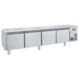 Unterbautiefkühltisch, steckerfertig, mit 4 Türen Tiefe: 630 mm, Korpushöhe: 460 mm, für GN 1/1