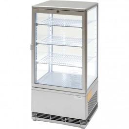 Kühlvitrine mit LED-Innenbeleuchtung, 78 Liter, silber, Abmessung 428 x 386 x 960 mm (BxTxH) von Stalgast