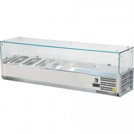 Pizzakühlaufsatz, für 7 x GN 1/4 (150 mm), Abmessung 1800 x 335 x 435 mm (BxTxH) von Stalgast