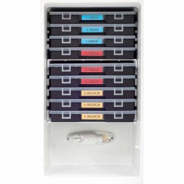 Rückstellprobenschrank, HACCP, inklusive Kassetten mit Probebehältern, Abmessung 470 x 510 x 840 mm (BxTxH) von Stalgast