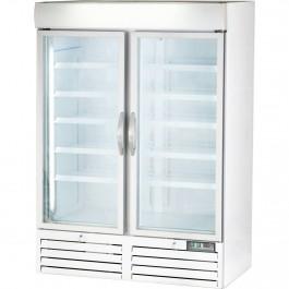 Displaytiefkühlschrank mit zwei Glastüren, 930 Liter, Abmessung 1370 x 700 x 1990 mm (BxTxH) von Stalgast