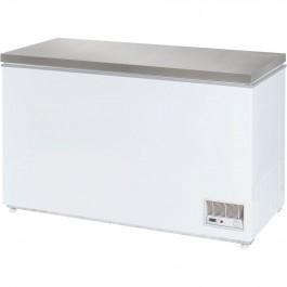 Tiefkühltruhe mit Edelstahldeckel, 390 Liter, Abmessung 1330 x 685 x 875 mm (BxTxH) von Stalgast