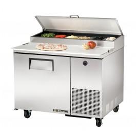 Pizzabelegtisch, außen CNS, innen Aluminium, Boden CNS