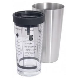 Boston-/Cocktailshaker 0,4 l Glas mit aufgedruckten
