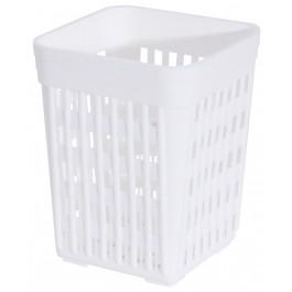 Besteckköcher 11x11cm, weiß