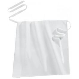Bistro-Schürze/Vorbinder 80 x 90 cm,  weiß