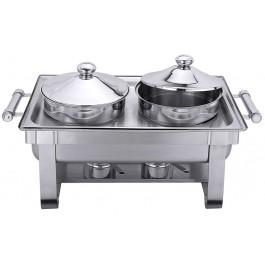 Chafing Dish-Suppenstation mit zwei Bain-Marie-Einsätzen