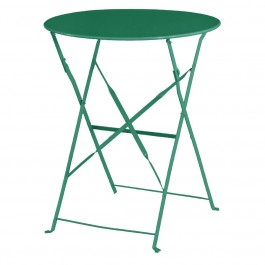 Bolero dunkelgrüner Terassentisch aus Stahl