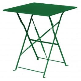 Bolero dunkelgrüner Terassentisch aus Stahl viereckig
