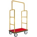 Gepäckwagen, 105 x 62 x 180 cm, goldfarben, Edelstahl