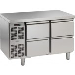 Kühltisch, 2 Abteile, steckerfertig, mit 4 Schubladen 1/2 Korpushöhe: 650 mm, Tiefe: 700 mm