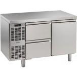 Tiefkühltisch, steckerfertig, 1 Tür, 2 Schubladen 1/2 Korpushöhe: 650 mm, Tiefe: 700 mm
