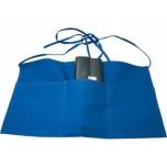 Vorbinder mit drei Taschen, 53 x 30 cm, blau, Polyester/Baumwolle
