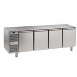 Kühltisch, 4 Abteile, steckerfertig, 4 Türen Korpushöhe: 650 mm, Tiefe: 700 mm