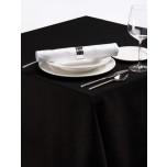 Palmar Tischdecke aus Polyester quadratisch 130cm schwarz