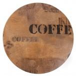 Werzalit runde Tischplatte Kaffeesack Effekt 70cm