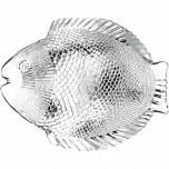 Fischteller aus Glas 260 x 210 mm