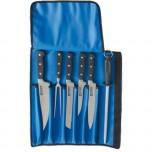 Stalgast Messerset mit geschmiedeten Klingen, sechsteilig, inklusive Messertasche