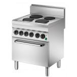 Elektroherd 700x650x870mm, mit 4 Kochstellen und