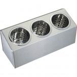 Besteckbehälter aus Edelstahl für 3 Besteckköcher