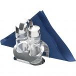 Menage 2-teilig, Salz/Pfeffer, mit Karten-/ Serviettenhalter, Höhe 115 mm