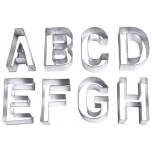 Ausstecher 'BUCHSTABEN', groß 26 Stück, aus Weißblech