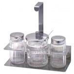 Ersatzglas Senf für Menage 666 mit Deckel und Löffel