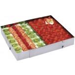 Tortenrahmen, rechteckig verstellbar mit Abteilblech