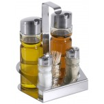 Menage, 5-teilig Öl/Essig, Salz/Pfeffer,Stocher