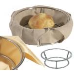Brotkorb aus Draht, 21 cm zum Einspannen von Tüchern