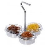 Marmeladen-Etagere mit drei Glasschälchen 6 cm