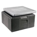 Thermobox grau/schwarz 21 l außen 40x40x22 cm