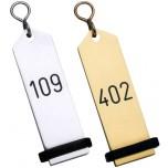 Hotel-Schlüsselanhänger 10 cm, Leichtmetall Eloxiert