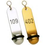 Hotel-Schlüsselanhänger 11,5 cm, Leichtmetall eloxiert