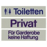 Wortschild TOILETTEN