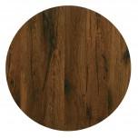 Werzalit Runde Tischplatte antikes Eichen 60cm