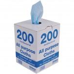 Jantex antibakterielle Mehrzwecktücher blau
