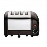 Dualit Toaster 4 Edelstahl + schwarz